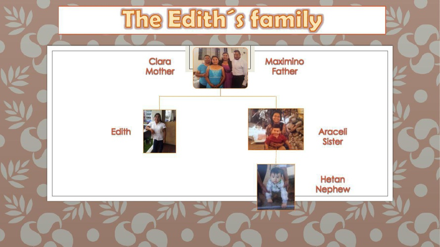 PRESENTATION OF THE EDITH´S FAMILY