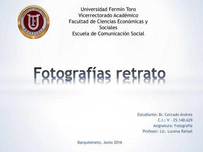 Fotografías retrato