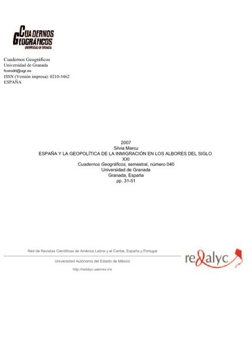 España y la geopolítica de la inmigración.
