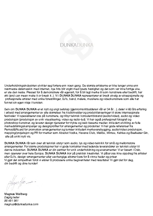 Dunka Dunka - Roster 2012