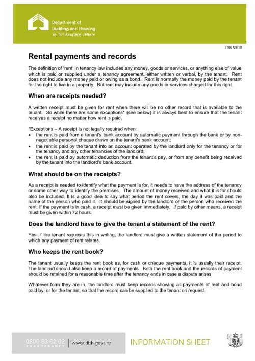 Rental payment and records