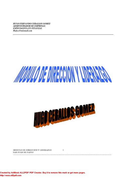 MODULO DIRECCION Libro Virtual en Linea.