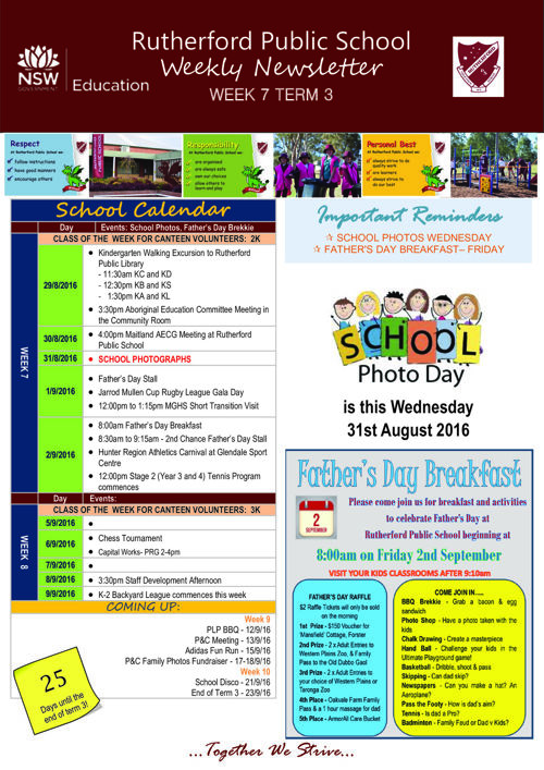Rutherford Public School Term 3 Week 7 2016 Newsletter