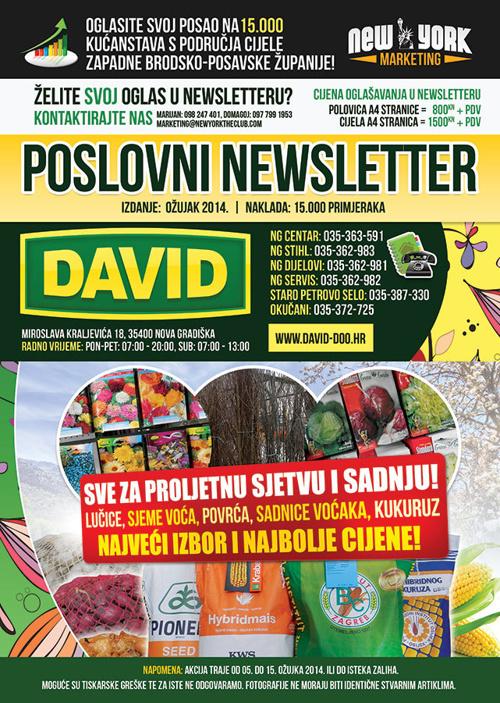 DAVID Poslovni Newsletter - ozujak 2014.