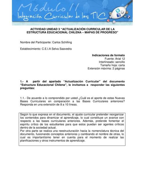 ACTUALIZACIÓN CURRICULAR DE LA ESTRUCTURA EDUCACIONAL CHILENA