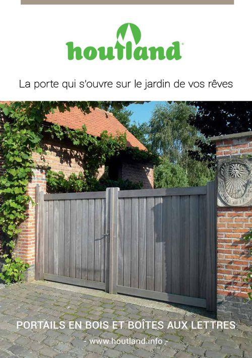 Houtland - Catalogue Portails en bois et boites aux lettres 2015