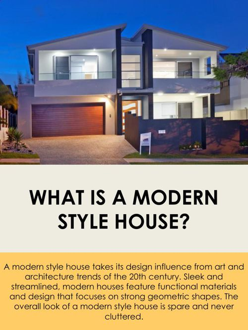 What is a Modern Style House