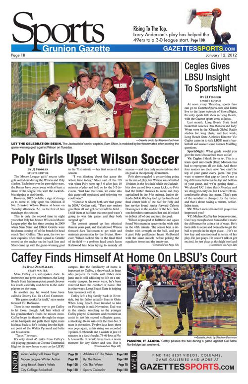 Gazette Sports | January 12, 2012