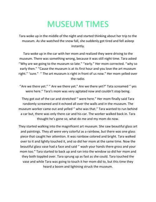 MUSEUM TIMES