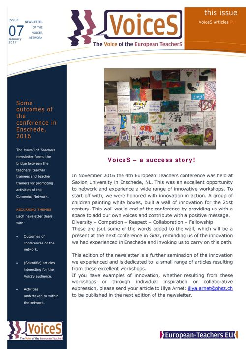 VoiceS Newsletter Issue 7/2018