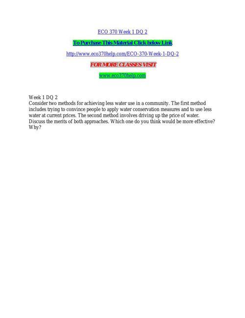 ECO 370 HELP Real Education/eco370help.com