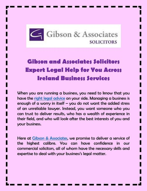 Gibson and Associates Solicitors Expert Legal Help for You Acros