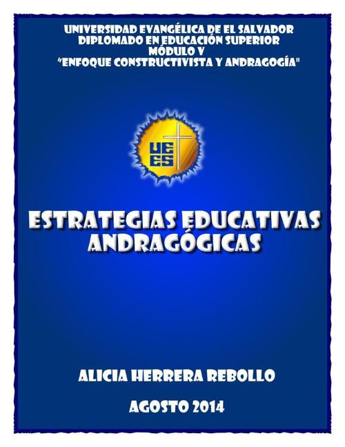 ESTRATEGIA EDUCATIVA ANDRAGÓGICA - CONSTRUYENDO VIDA