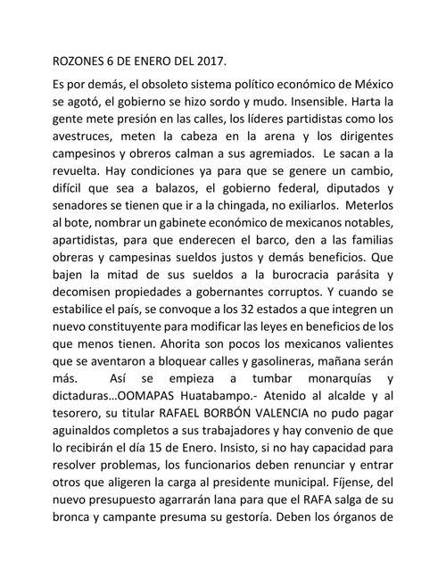 ROZONES 6 DE ENERO DEL 2017