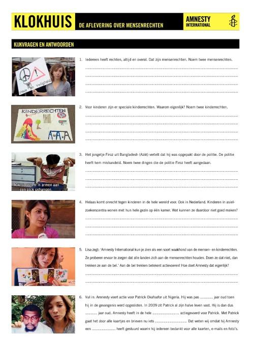 Kijkvragen bij aflevering Klokhuis over mensen- en kinderrechten