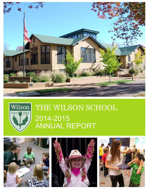 2014 - 2015 Wilson School Annual Report