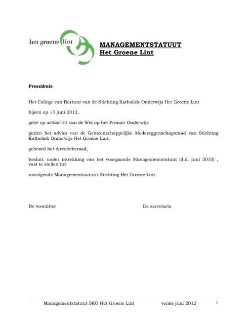 HGL-Managementstatuut