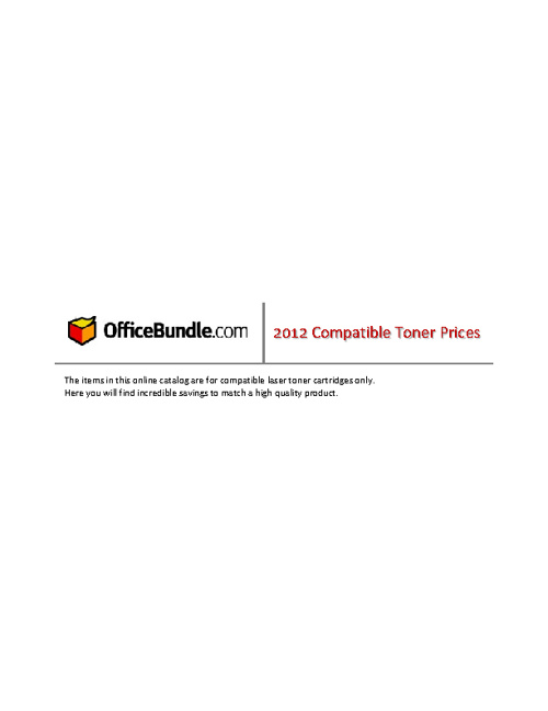 OfficeBundle Toners