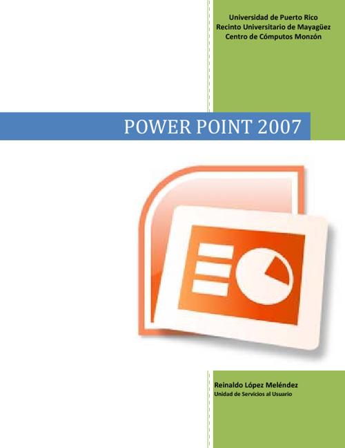 EL MANUAL DE POWERPOINT 2007