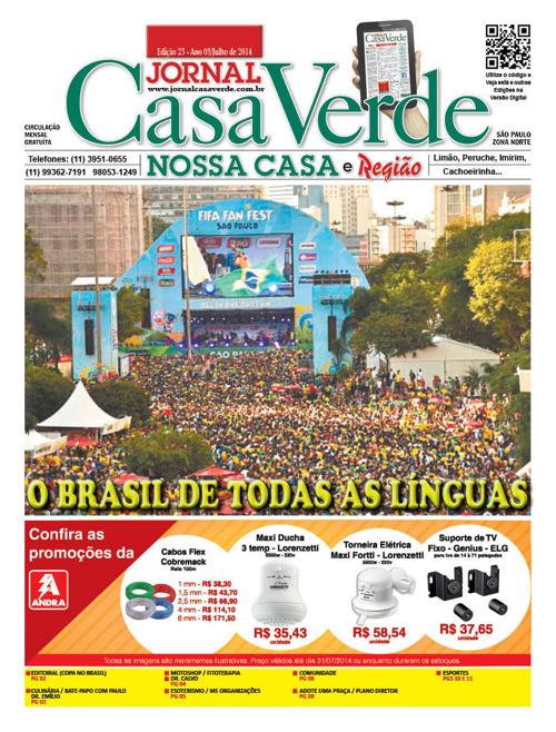JORNAL CASA VERDE - 25ª Edição julho 2014