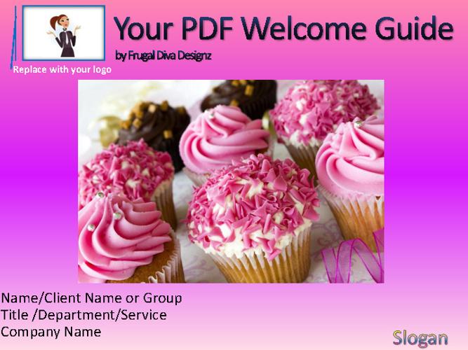 Custom Girly & Small Biz PDF Welcome Guides- Frugal Diva Deisgnz