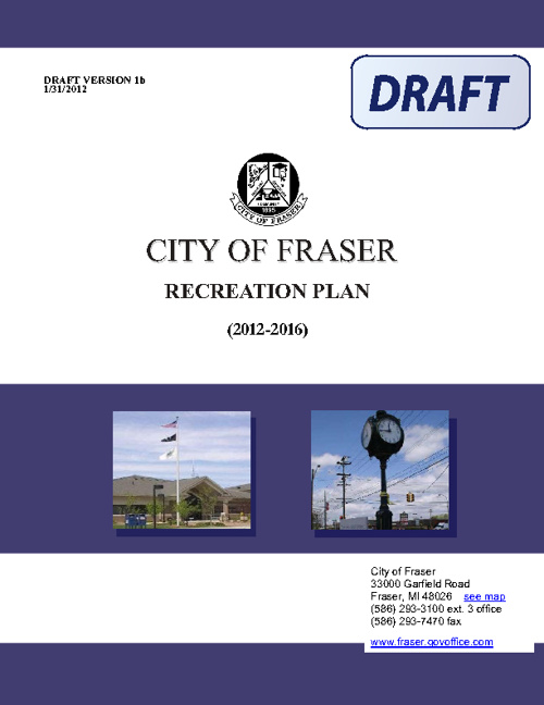 Fraser Parks and Recreation 2012-2016 Recreation Master Plan