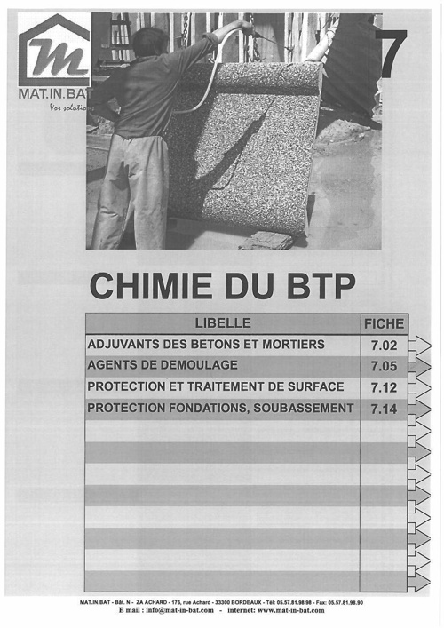 Catalogue Chimie du BTP