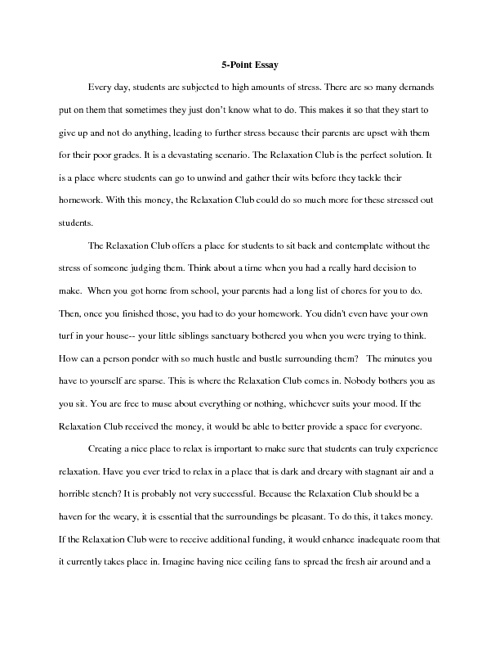 Scored Essay Examples