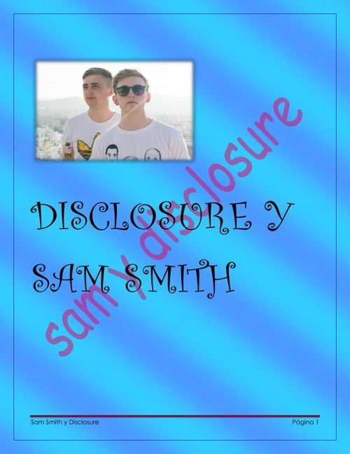 DISCLOSURE Y SAM SMITH