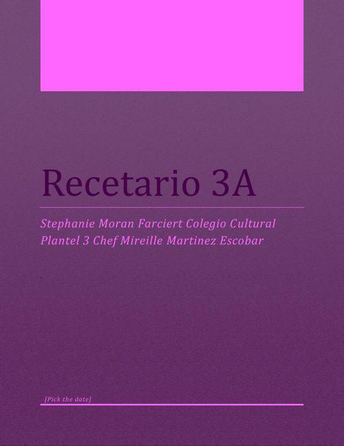 Recetario 3A