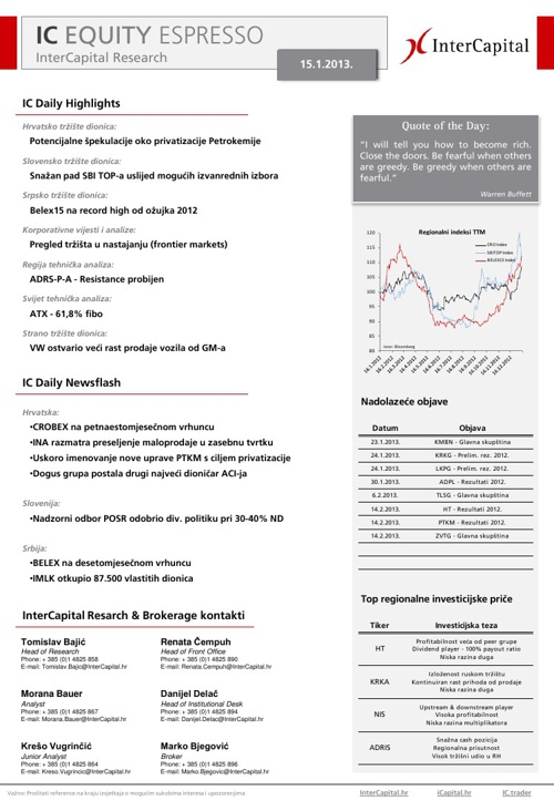 IC Daily Equity Espresso