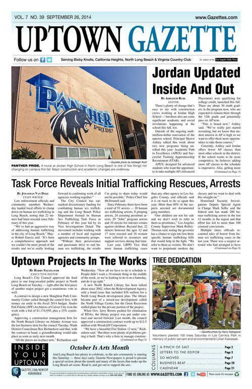 Uptown Gazette  |  September 26, 2014