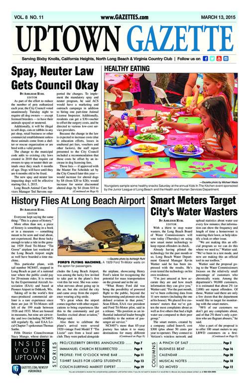 Uptown Gazette  |  March 13, 2015