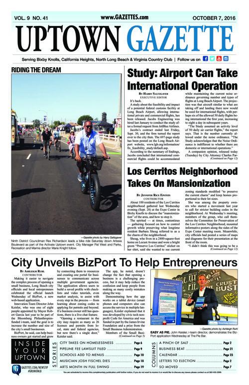 Uptown Gazette  |  September 16, 2016