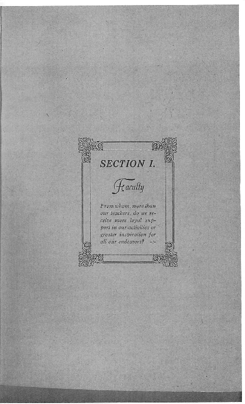 OHS 1916 Yearbook - Faculty