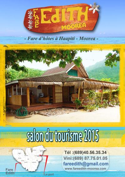 FARE EDITH salon du tourisme septembre 2015