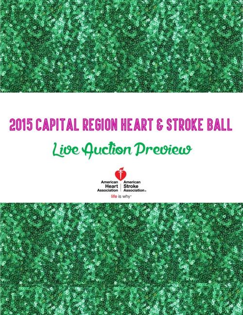 Capital Region Heart and Stroke Ball Auction Catalog