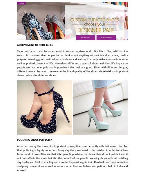 Shoebuild - Shoebuild Shoes Improve Your Personality