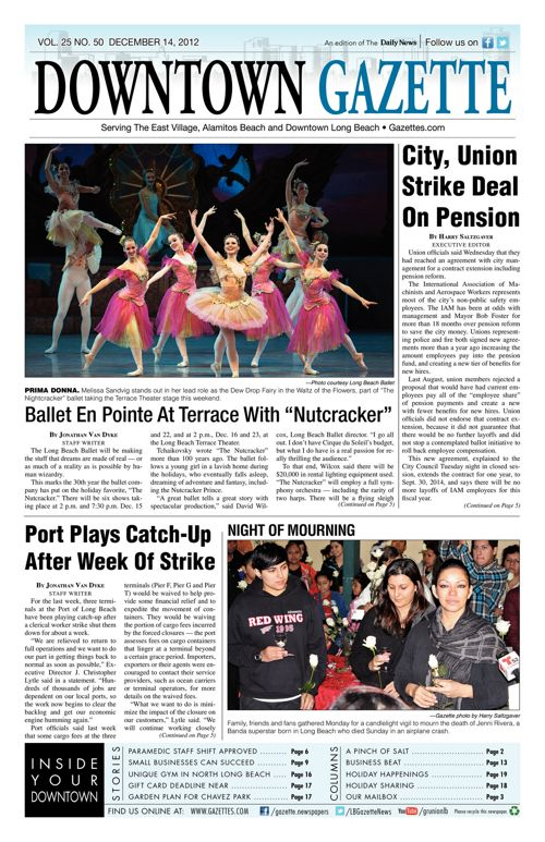 Downtown Gazette     December 14, 2012