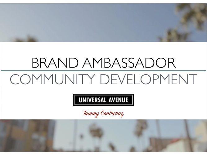 Brand Ambassador Community Development