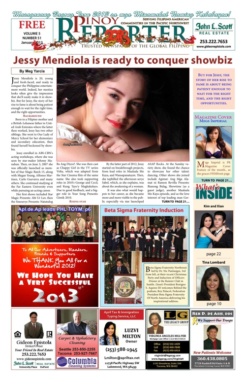 Pinoy Reporter January 2013