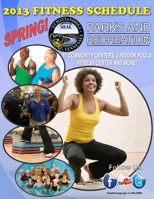 2013 Fitness Schedule by Chattanooga Parks and Recreation