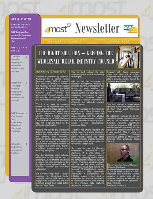 4most Newsletter March 2015