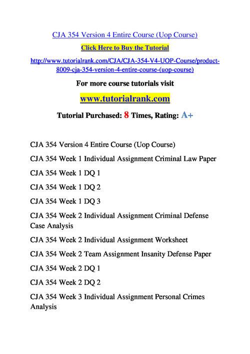 CJA 354 Version 4 Course Success Begins / tutorialrank.com