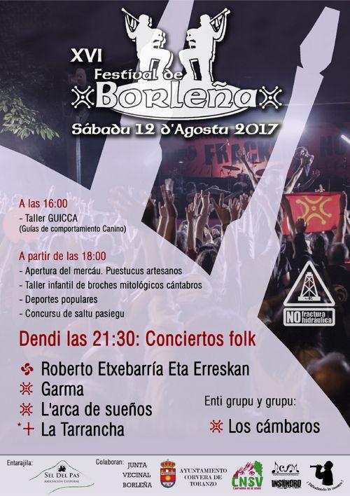 Folleto XVI Festival de Borleña 2017