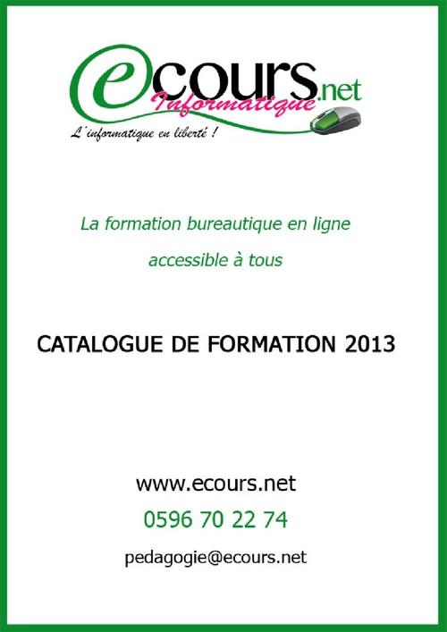 Catalogue Ecours Informatique 2013