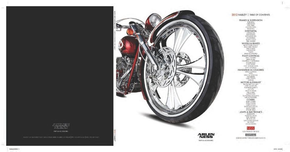 2012 Arlen Ness Harley Davidson Catalog