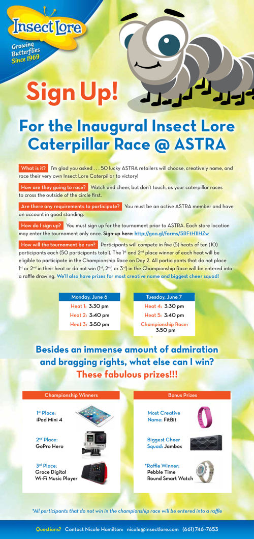 Insect Lore Caterpillar Race @ ASTRA