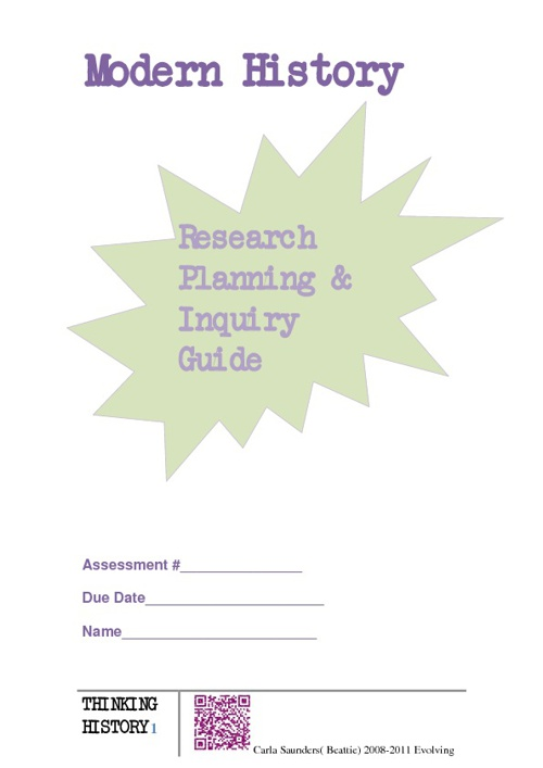 Research, Planning & Inquiry Guide