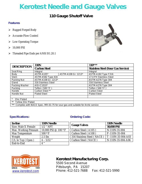 CATALOGO KEROTEST